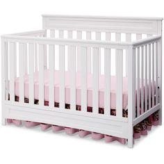 Delta Children Geneva 4-in-1 Fixed Side Crib, (Choose Your Finish) - Walmart.com