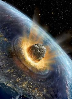The asteroid that created the Chicxulub Crater in Mexico and is believed to have killed off the dinosaurs 65 million years ago (at least 10 km in diameter) by juliana Nasa, Illuminati, Bomba Nuclear, Hiroshima, Out Of This World, Outer Space, Solar System, Cannabis, Medical Marijuana