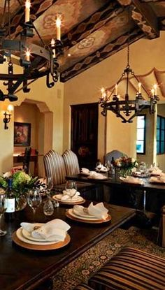 Old World, Mediterranean, Italian, Spanish & Tuscan Homes & Decor