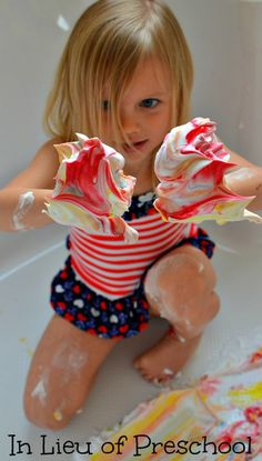 Messy Play: Shaving Cream Easter Eggs Craft - In Lieu of Preschool