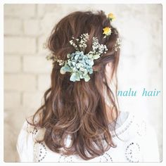 Bridal Hair, Long Hair Styles, Flowers, Beauty, Angel, Hair, Long Hairstyle, Long Haircuts, Long Hair Cuts