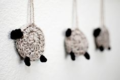 Counting Sheep tutorial. Perfect for childs mobile. Or garland above bed. Literally count them sheep! Cute idea, thanks so xox