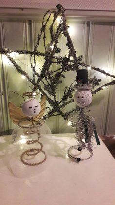 Bed Springs, Snow Globes, Snowman, Angel, Home Decor, Decoration Home, Room Decor, Snowmen, Home Interior Design