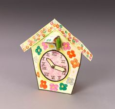 Carved wooden cuckoo clocks from the Black Forest region of Germany are timely gifts. Kids create their own replica clock. Cuckoo!