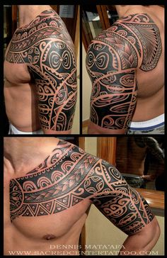 Samoan Tribal Tattoo #samoan #tribal #sleeve #chest