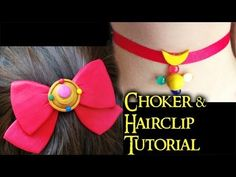 Sailor Moon Hairclip & Choker Polymer Clay Tutorial / Arcilla Polimérica by NerdECrafter