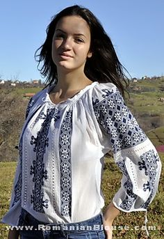 romanian embroidered blouse ie