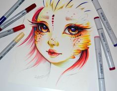 Namida the Phoenix by Lighane.deviantart.com on @DeviantArt