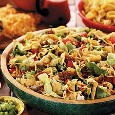 Crunchy Taco Salad. Whenever we saw her making this salad, we knew Grandma was having a party.