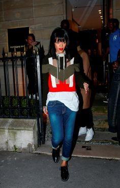Rihanna's Paris Fashion Week style