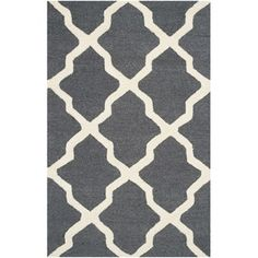 Shop for Safavieh Handmade Moroccan Cambridge Dark Grey/ Ivory Wool Rug (2'6 x 4'). Free Shipping on orders over $45 at Overstock.com - Your Online Home Decor Outlet Store! Get 5% in rewards with Club O!