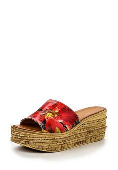 Сабо Grand Style  Сабо Grand Style. Цвет: красный. Материал: натуральная кожа. Сезон: Весна-лето 2016. Одежда, обувь и аксессуары/Обувь/Женская обувь/Сабо