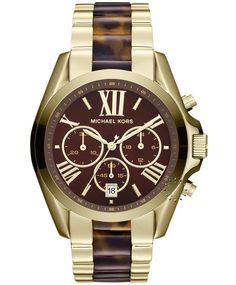 MICHAEL KORS Bradshaw Chronograph Gold Stainless Steel  Τιμή: 315€  http://www.oroloi.gr/product_info.php?products_id=32641