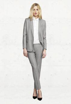 Grey slim fit suit for women!