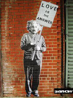 Digitaldruck - XL POSTER 70x50cm Einstein Banksy - ein Designerstück von STREET-HEART bei DaWanda