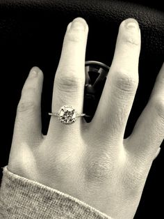 1 ct to ct solitaire or halo on size 4 finger? Halo Rings, Dream Ring, Dream Wedding, Wedding Dreams, Moissanite, Wedding Rings, Wedding Bells, Bling, Style Inspiration