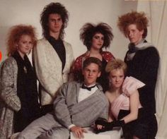 Embarrassing 80s photo.  Its hairlarious.  Flock of Seagulls called with the Cure and they said they want their hair back.