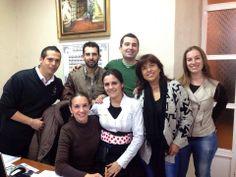 Celebrando el cumpleaños de Eva con José Mª, Antonio, Jose, Norma, Rocío y Blanca :)