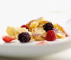 Grießschmarrn mit Granatapfelmousse