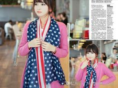 Scarves American Flag Pentagram Chiffon Scarf Fashion Scarves USA Flag Scarf Patriotic Stars And Stripes American Flag Scarf for Women Wrap Online with $1.26/Piece on Worldfashionoutlet's Store | DHgate.com