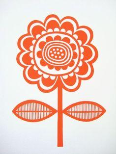 Scandinavian Flower screen Print