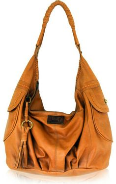 Lucky Brand Brown Lamb Leather Large Hobo BAG Handbag Purse ...