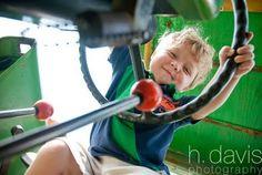 h. davis photography. john deer. tractor. kids. children. boys. natural light. farm.