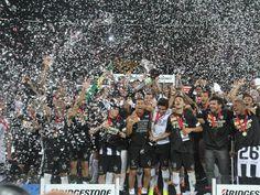 Erstmals hat der brasilianische Fußball-Erstligist #Atlético #Mineiro den #Copa-#Libertadores-Titel gewonnen. Der Jubel in Belo Horizonte war nach dem Final-Rückspiel im Elfmeterschießen mit 6:3 (2:0,2:0,0:0) gegen den paraguayischen Verein Olimpia entsprechend groß. (Foto: Paulo Fonseca/dpa)
