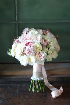 Classic Pastel Bouquet in Ivory and soft pink hues by Bella Signature Design
