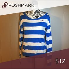 Stripes Hollister Sweater Blue and white hollister striped sweater. Please feel free to ask any questions or make an offer, and as always THANK YOU for shopping my posh closet! Xoxo -Tish Hollister Sweaters