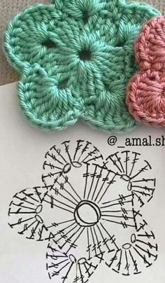 Crochet flowers for hats granny squares 28 Best Ideas Croch… – Granny Square Crochet Square Patterns, Crochet Motif, Crochet Designs, Knitting Patterns, Bonnet Crochet, Crochet Doilies, Crochet Crafts, Easy Crochet, Crochet Projects