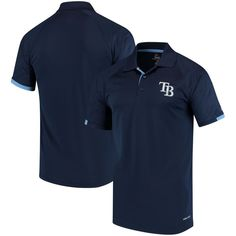 Tampa Bay Rays Majestic Outburst Cool Base Polo - Navy/Light Blue