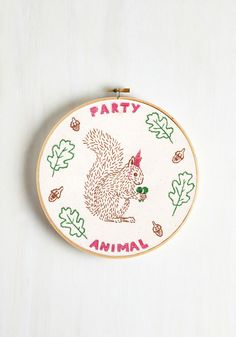 Forest Fiesta Embroidery Kit #DIY