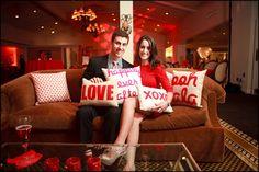 The cute couple in their LOVE pillows