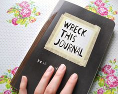 Wreck this journal front www.sistersactboulevard.com