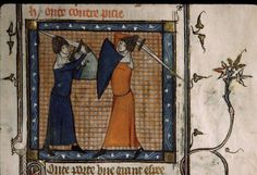 women fighting with sword & shield