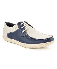 Loving this Navy & White Contrast Oxford on #zulily! #zulilyfinds