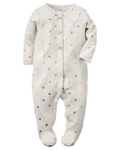 Baby Girl Cotton Snap-Up Sleep & Play | Carters.com 3 months