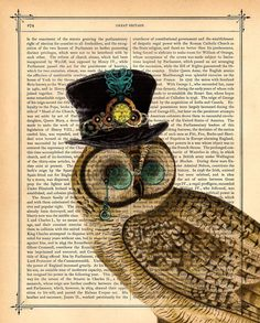 SteamPunk Owl ~ BlackBaroque @ etsy - would be awesome in a study/library