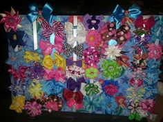 Bellas Bow Collection Made by mommy.