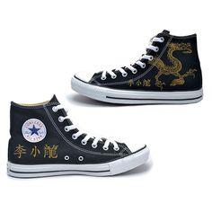 a8e87de31650 Lee Little Dragon Converse Chuck Taylor All Star High Top Sneakers - Bruce  Lee Official Store