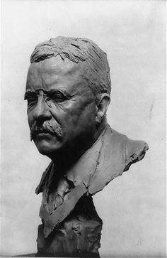 President Theodore Roosevelt Colonel Teddy Sculpture Bust Gleb Derujinsky 1919 | eBay