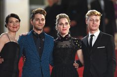 Anne Dorval, director Xavier Dolan, Nancy Grant and actor Olivier Pilon attend the 'Mommy' premiere during the Annual Cannes Film Festival on May 2014 in Cannes, France. Xavier Dolan, Celebs, Celebrities, Cannes Film Festival, Suit Jacket, Cannes France, Actors, People, Ocean