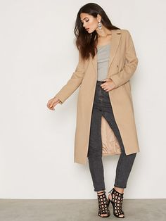 Belted Midi Duster Coat