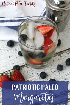 It's summertime, y'all! Time for the hot sun, cool swims, and (my personal favorite) ice cold margaritas! Such a bummer that most margarita mixes are horrible for you, so I wanted to make a paleo-friendly margarita! This one is even patriotic, perfect for Memorial Day, Labor Day and 4th of July! Check out the Patriotic Paleo Margarita! via @naturalpaleofamily