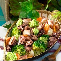 Puntillas con verduras