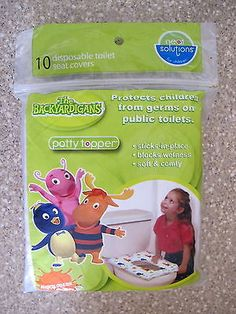 10 NEAT SOLUTIONS THE BACKYARDIGANS POTTY TOPPER DISPOSABLE TOILET SEAT COVERS - http://baby.goshoppins.com/potty-training/10-neat-solutions-the-backyardigans-potty-topper-disposable-toilet-seat-covers/