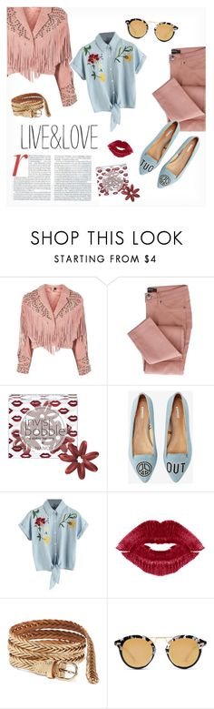 """""""Live and Love"""" by fancy-chic ❤ liked on Polyvore featuring Topshop, Invisibobble, Express, Jennifer Lopez, Manic Panic NYC, Old Navy and Krewe"""