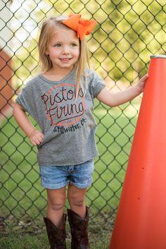 KIDS OSU Pistols Firing bowie rolled sleeve t-shirt