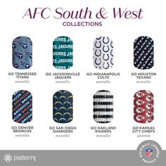 https://flic.kr/p/MRg5sU | NFL-V2_SMS-Icon-Collections_100616_AFC-SouthWest | NFL Volume 2 michellesholder.jamberry.com